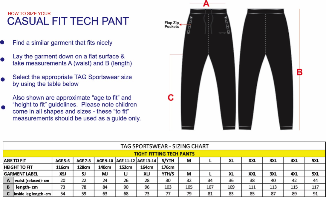 trousers sizing