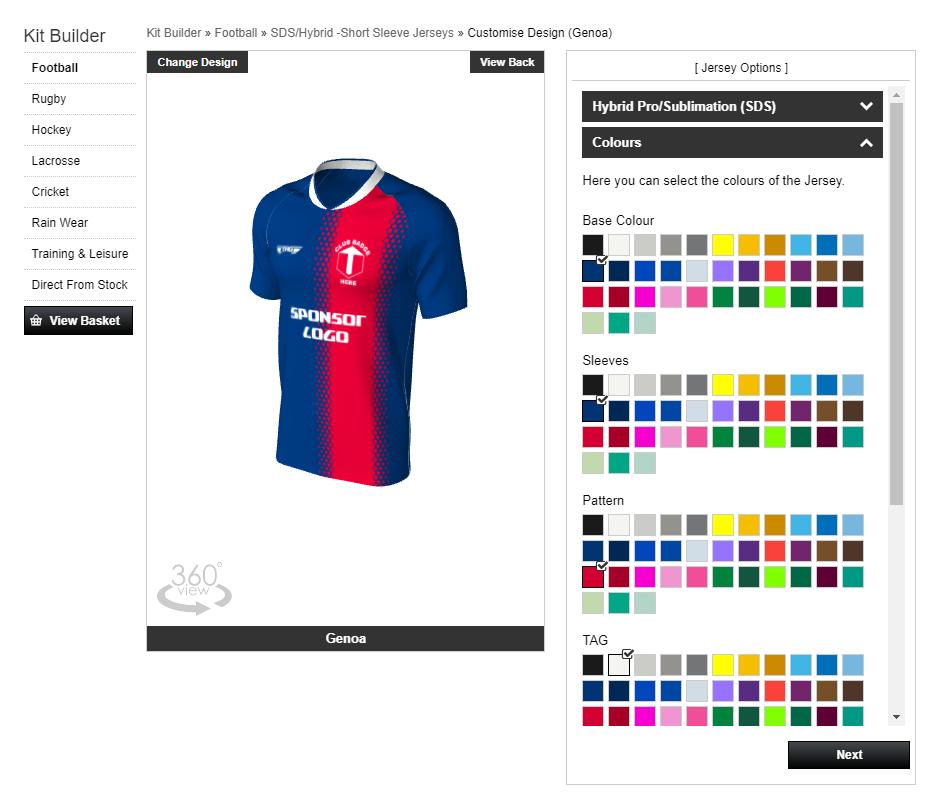 TAG Sportswear - Design Teamwear